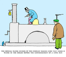 Water diviner by W. Heath Robinson
