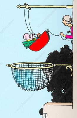Baby swing by W. Heath Robinson