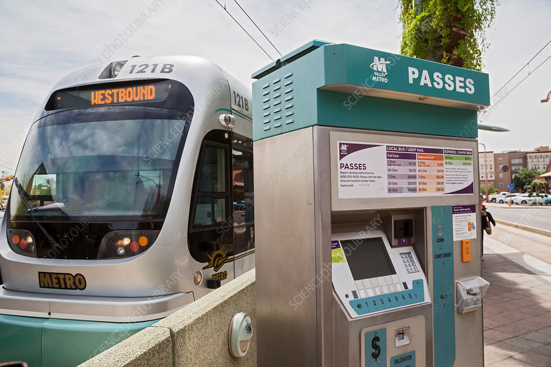 Phoenix light rail transit system, USA
