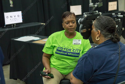 Free medical clinic, Detroit, USA
