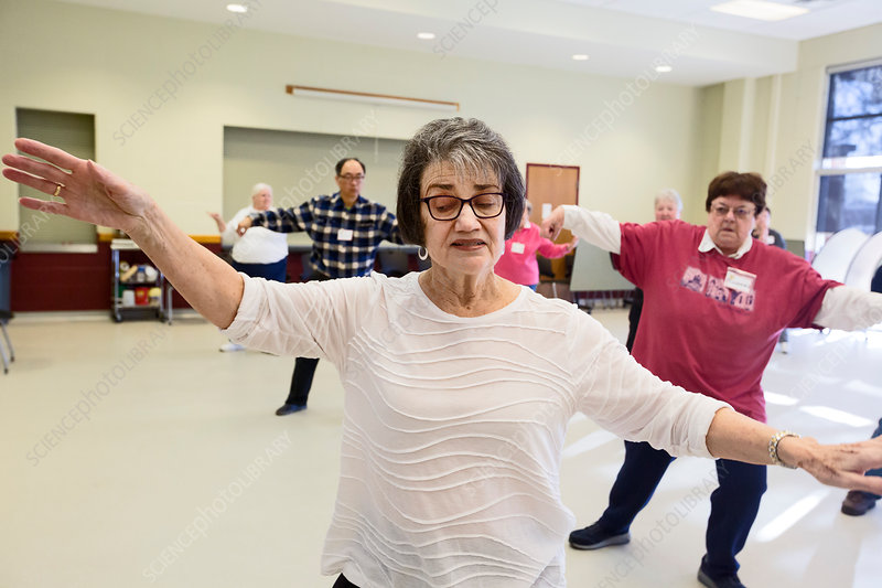 Senior citizen's tai chi class, USA