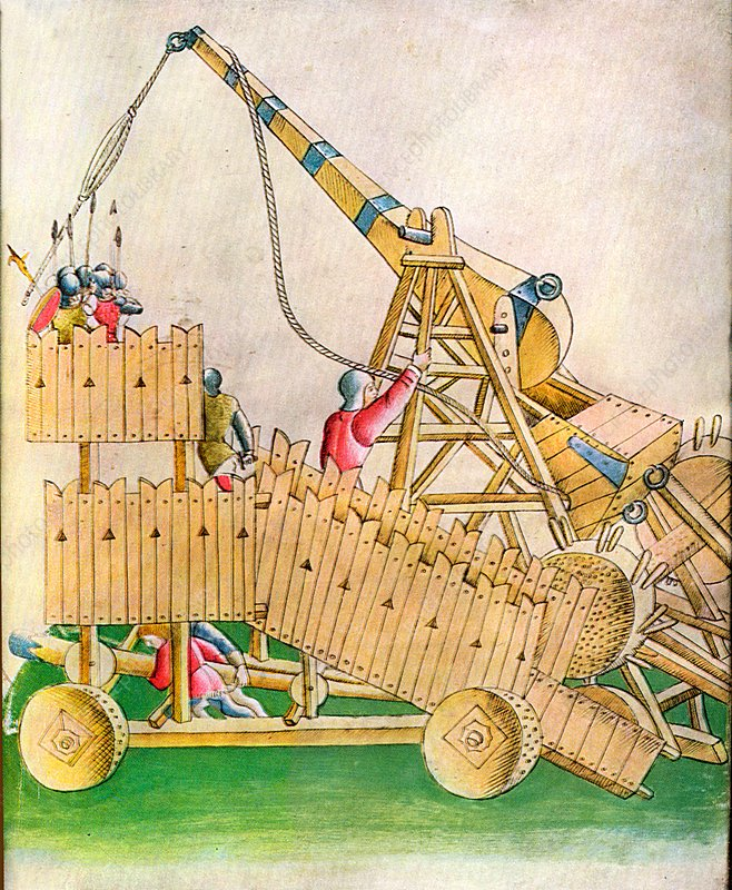 Assault by Medieval Siege Weapon