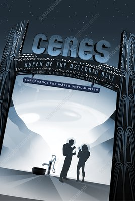 Ceres space tourism poster