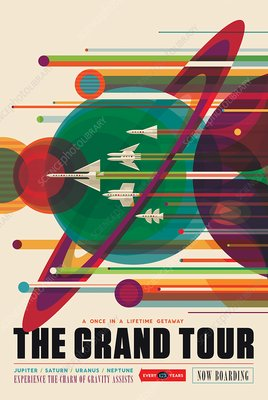 Grand Tour space tourism poster