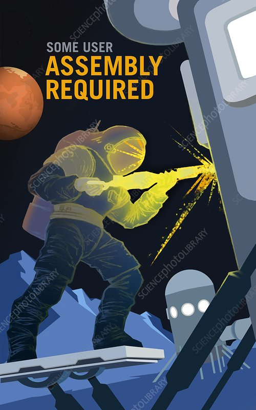 Mars explorer recruitment poster