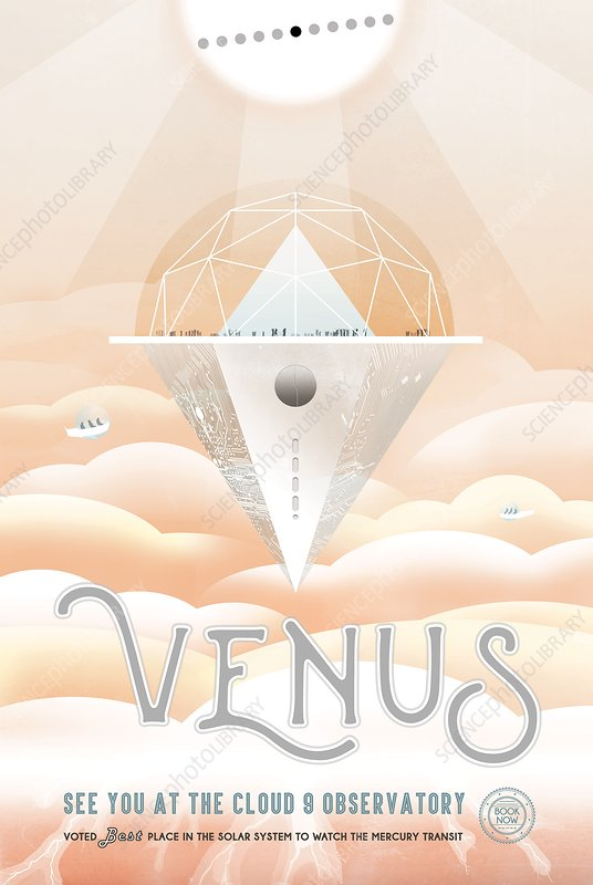 Poster for astronomy observations on Venus