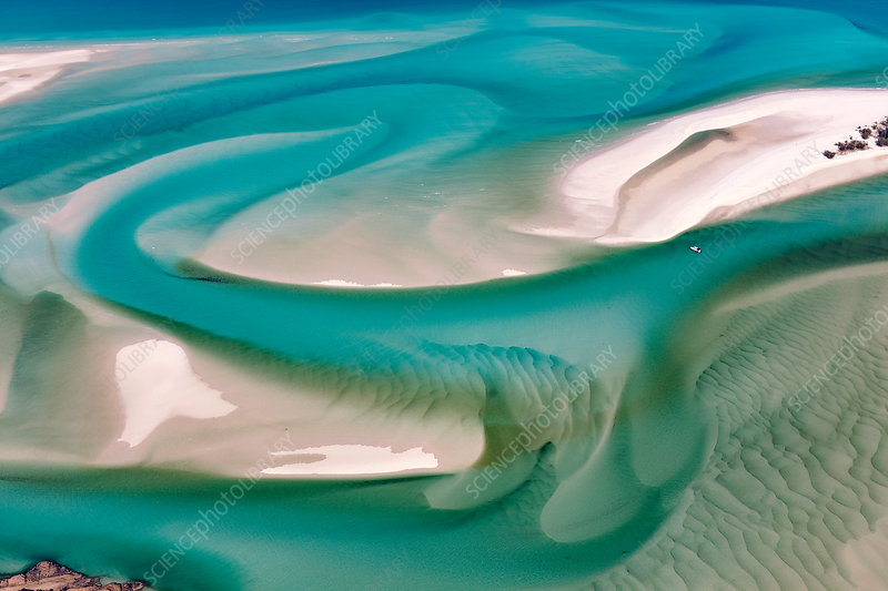 Hill inlet, Whitsunday Island, Australia, aerial photograph