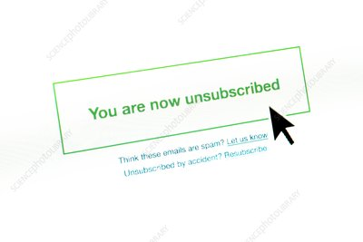Unsubscribing from email