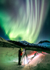 Photographing the aurora in Alaska