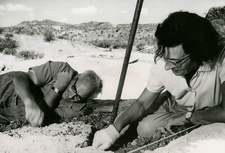 Louis Leakey and his wife Mary Leakey