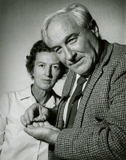 Mary Leakey and her husband Louis Leakey