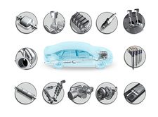Car components, illustration