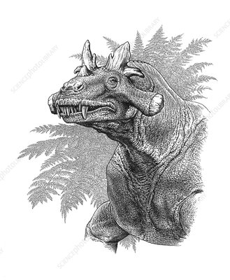 Estemmenosuchus therapsid, illustration