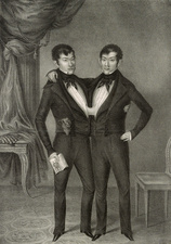 Chang and Eng conjoined twins, 1837