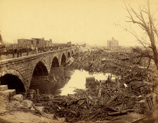 Stone Bridge after Johnstown Flood, 1889