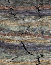 Fractures in Earth's crust, illustration