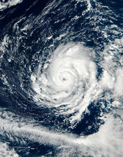 Hurricane Ophelia, satellite image