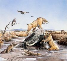 La Brea Tar Pits, illustration