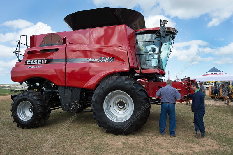 Combine Harvester at an agricultural Expo