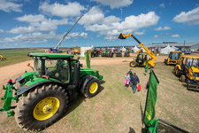 Farm equipment at an outdoor Expo