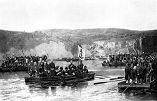 Russian army crossing the Danube, 1877