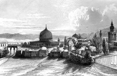 The Dome of the Rock, Jerusalem, 19th Century illustration