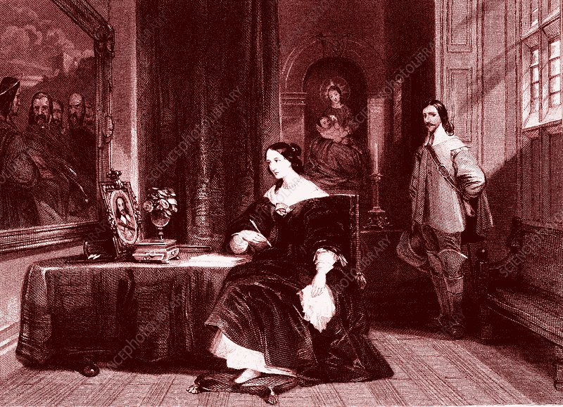 Queen Henrietta and Charles 1st, illustration