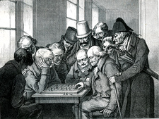 19th Century chess players, illustration