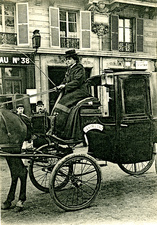 Early 20th Century female cab driver, Paris