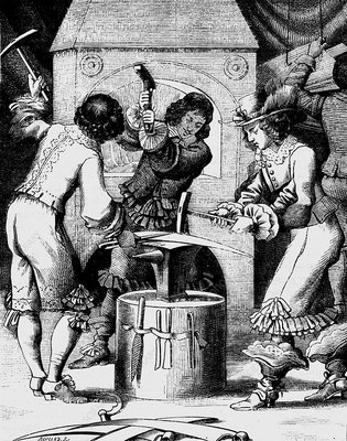 17th Century blacksmiths, 19th Century illustration