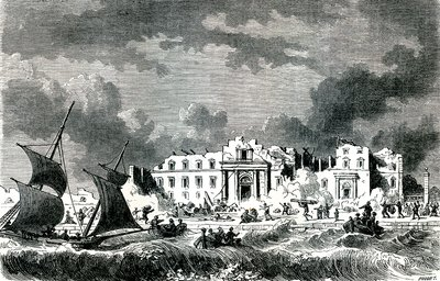 1783 Messina earthquake, Sicily, illustration