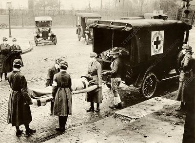 Spanish Flu ambulance, USA