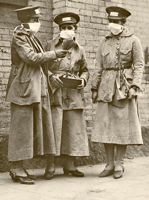 Bus conductors during Spanish Flu pandemic