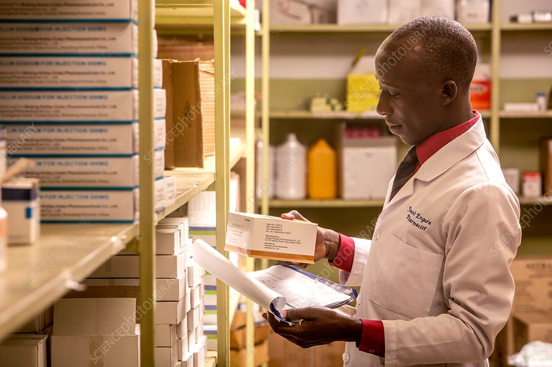 Pharmacist handling nonsteroidal anti-inflammatory drug