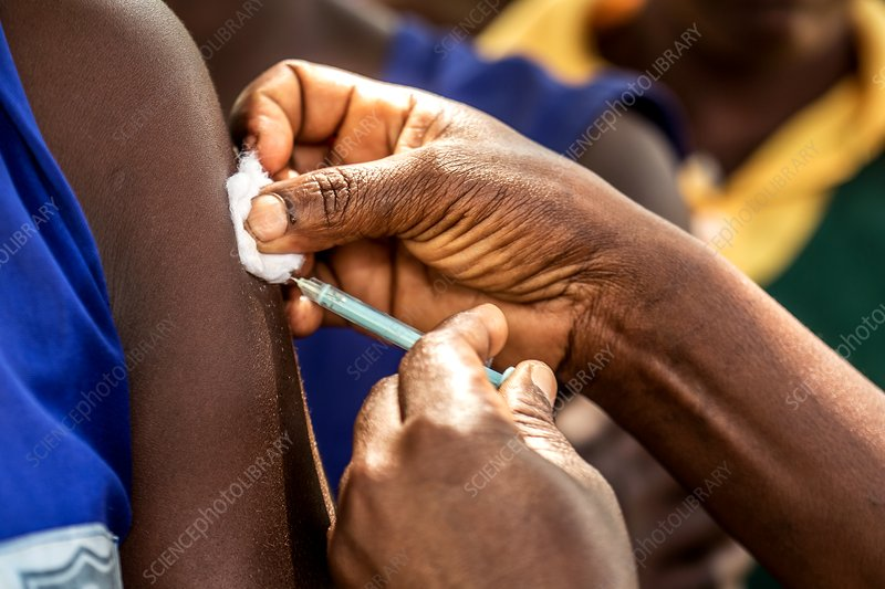 Tetanus vaccine being injected