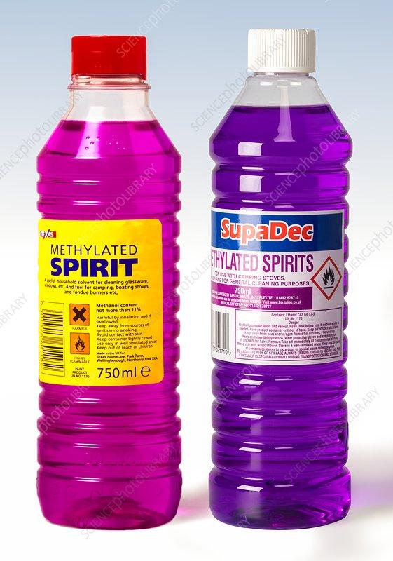 Old and new formula methylated spirits - Stock Image - C037