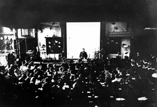 Otto Lummer lecturing on his 60th birthday, 1920