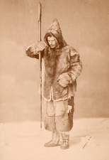 Franz Boas, German-US anthropologist, in Inuit clothing