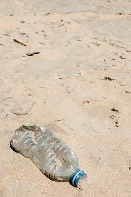 Plastic bottle on a beach