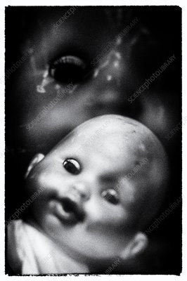 Child's doll, horror film effect