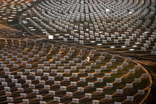 Solar power plant, Spain, aerial photograph