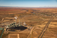 Cholla power plant, Arizona, USA, aerial photograph