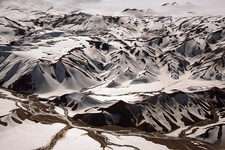 Mountains, Iceland, aerial photography