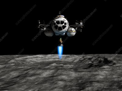 Lunar ascender ascending, illustration