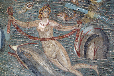 Roman mosaic in the Bardo Museum, Tunisia