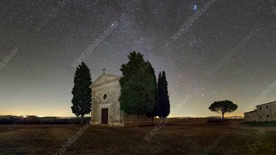 Milky Way over Tuscany, Italy