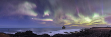 Northern Lights over Eldey Island, Iceland