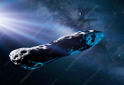 Asteroid 'Oumuamua, illustration