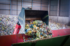 Recycling site for household waste
