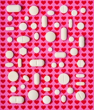 Heart drugs, conceptual image